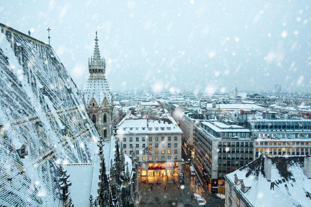 Снег в столице Австрии долго не держится